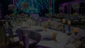 tarifs d'un événement selon les prestations